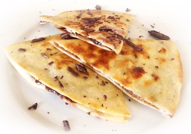 dark chocolate and chilli quesadilla