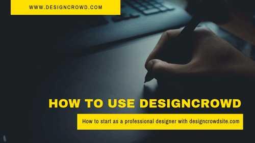 كيف تبدا العمل الحر كمصمم جرافيك مع موقع - Design Crowd !