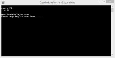 Contoh Program Pernyataan Loop Pada C++