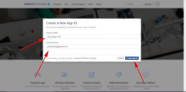 Create new id - Facebook