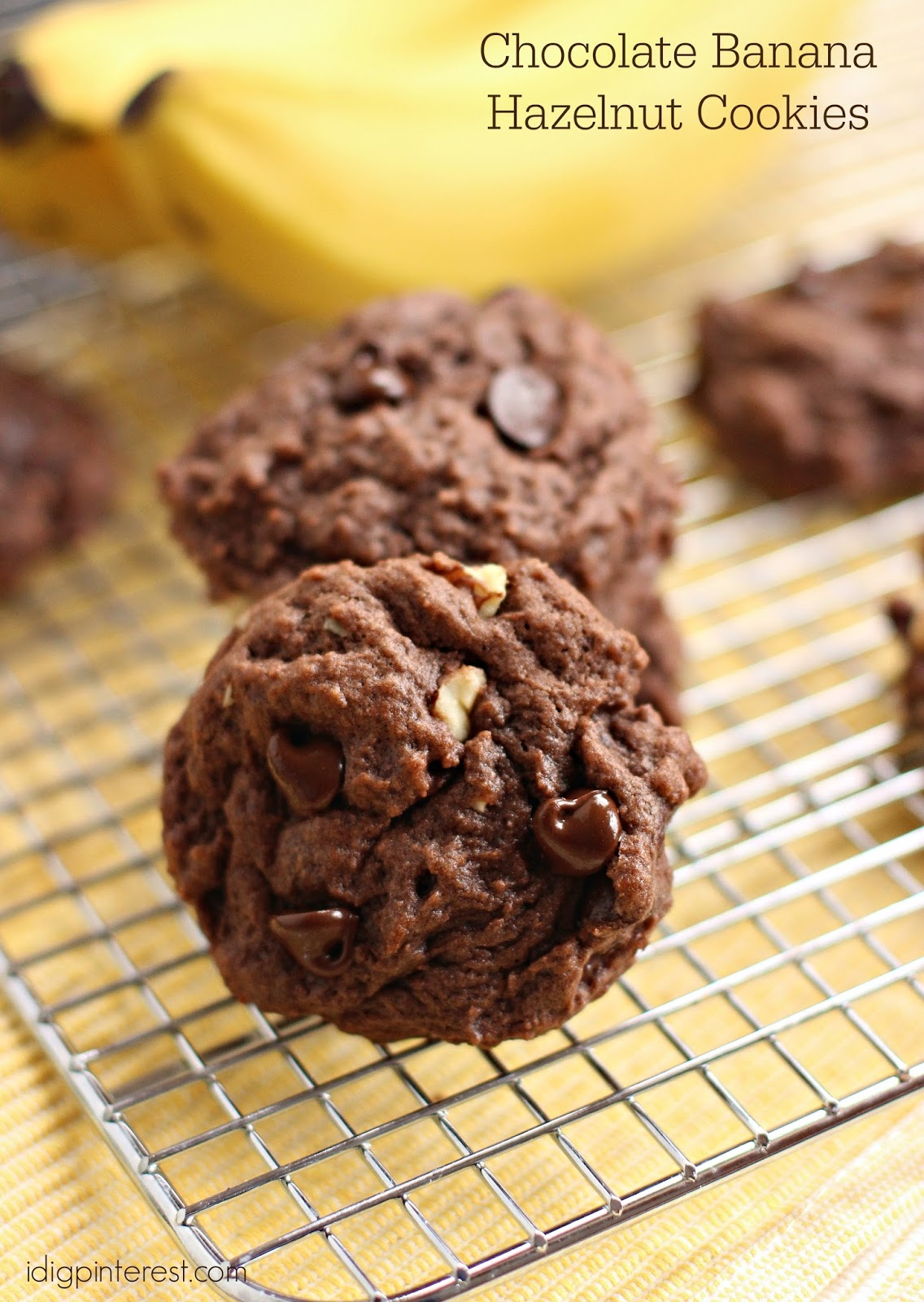Chocolate Banana Hazelnut Cookies - I Dig Pinterest