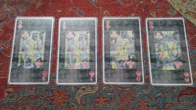 tarot cards court clubs wands