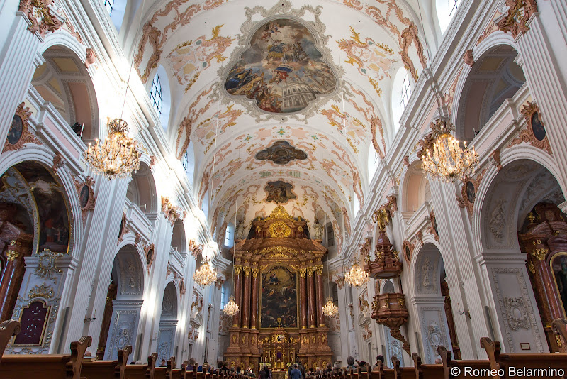 Jesuit Church Interior Two Days in Lucerne Luzern Switzerland