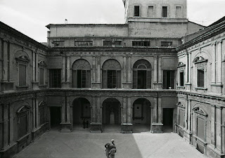 A courtyard at the historic Palazzo Poggi in Bologna