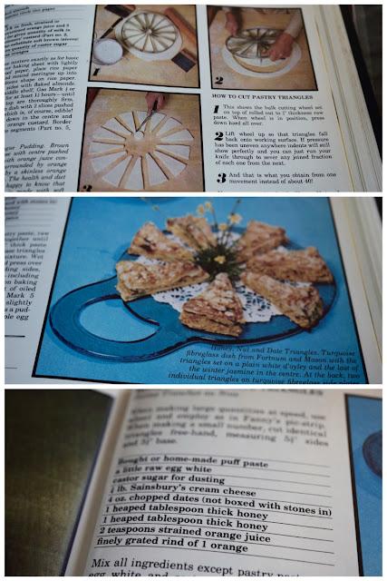 Fanny Cradock Honey Nut & Date Triangles