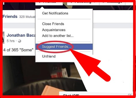 how to suggest a friends in facebook