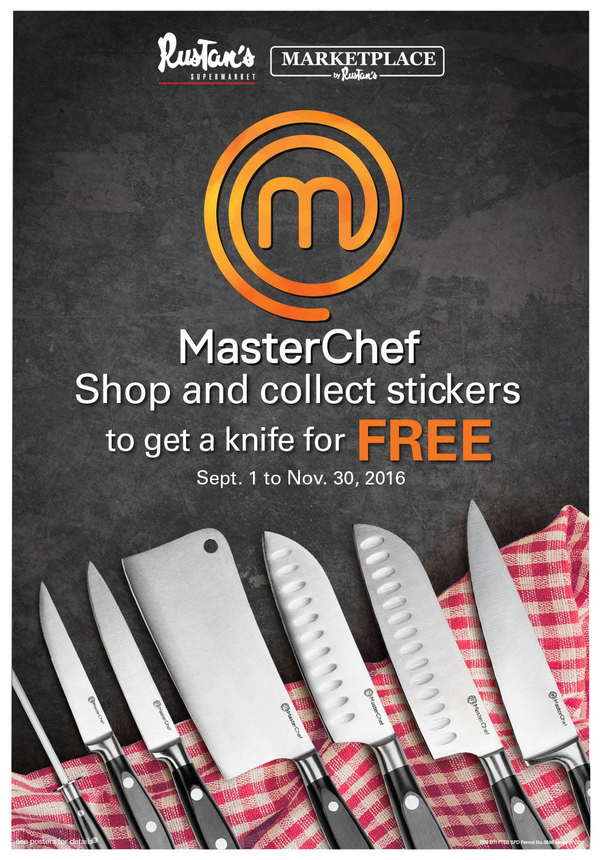 promo sep01 nov30 2016 rustan 39 s supermarket free limited edition masterchef knives. Black Bedroom Furniture Sets. Home Design Ideas