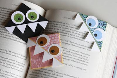 Pembatas buku lucu bentuk monster