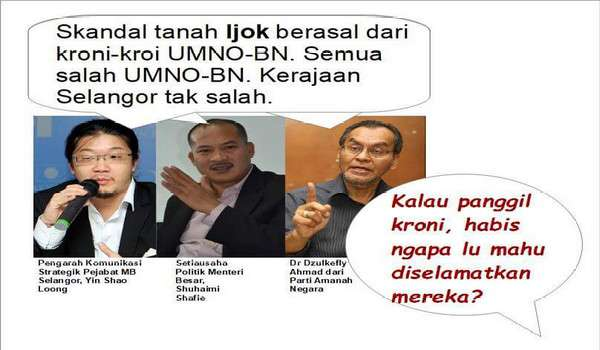 Skandal Tanah Ijok: Kalau Kroni UMNO mengapa Azmin nak bail-out?