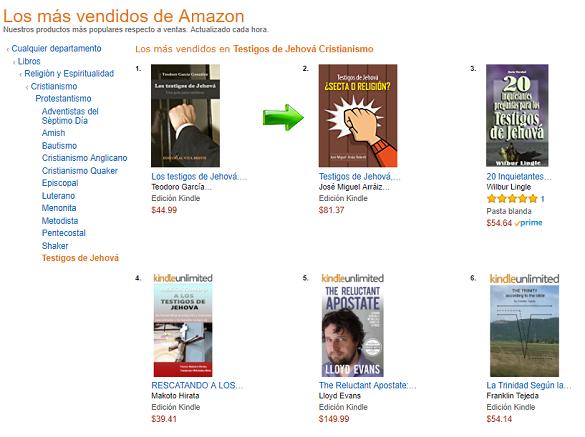 Testigos de Jehová, ¿Secta o Religión?, Best Seller en Amazon México