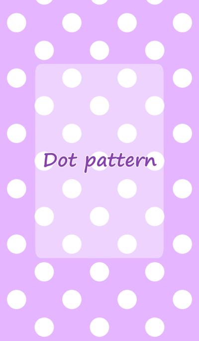 Dot pattern purple and white