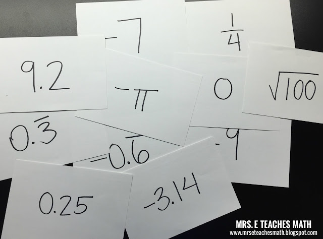 The Human Number Line - a great activity for algebra