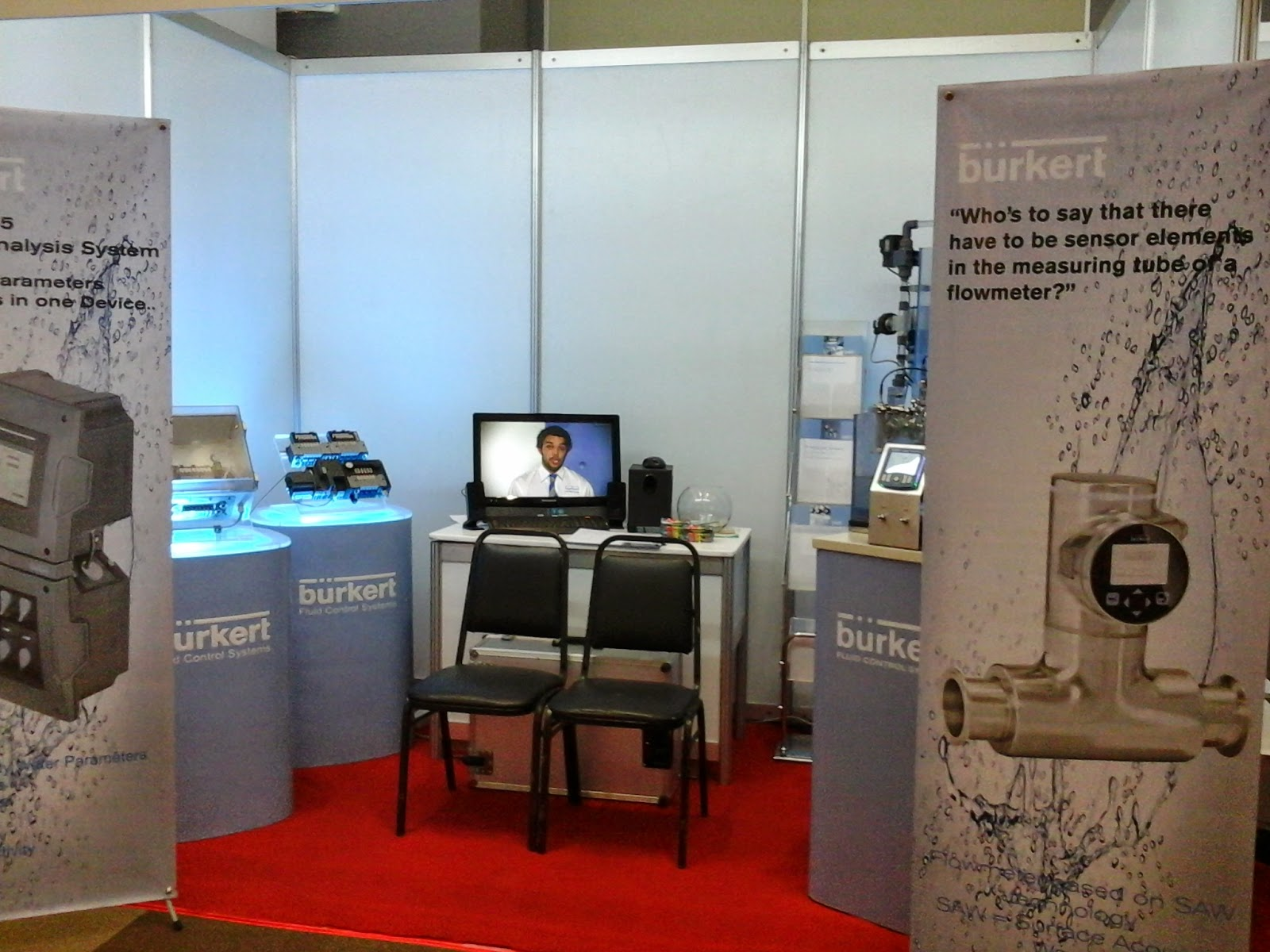 Burkert  Fluid Control Systems Exhibit Booth