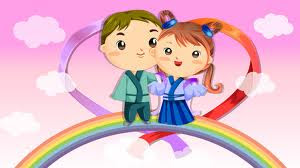 Falling in love cartoon romantic