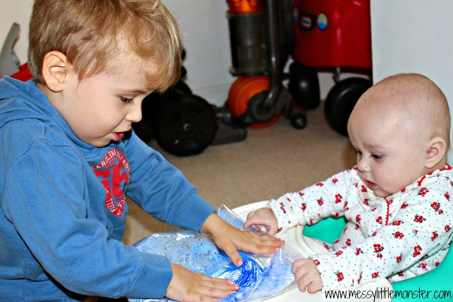 painting for babies and toddlers: no mess paper plate snowflakes
