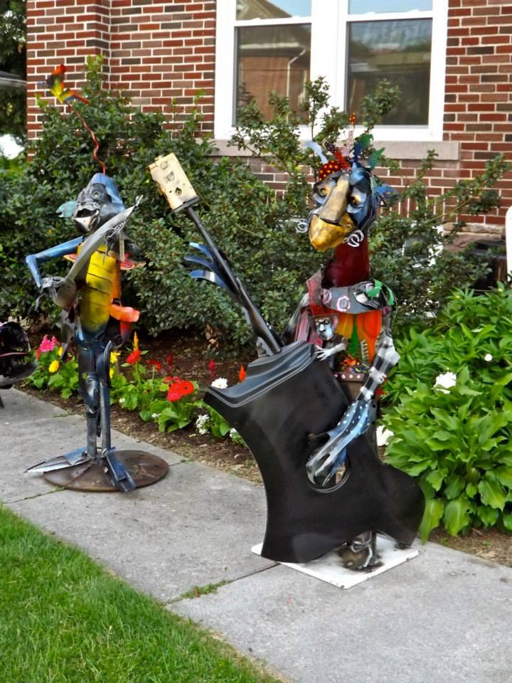 The Art Of Up-Cycling: Metal Garden Art, Sensational Scrap ... on Backyard Metal Art id=48742