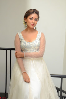 Anu Emmanuel in a Transparent White Choli Cream Ghagra Stunning Pics 044.JPG