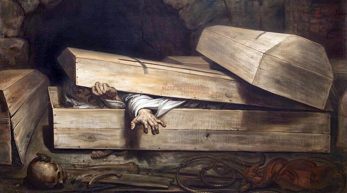 Антуан Виртс. Преждевременное захоронение.1854.