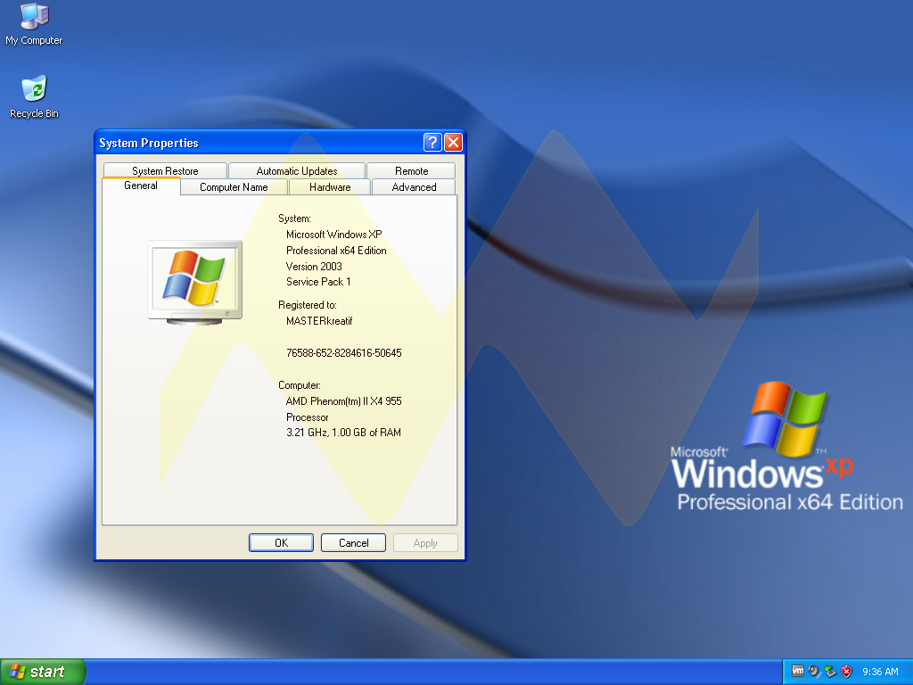 Windows XP Professional 64-bit