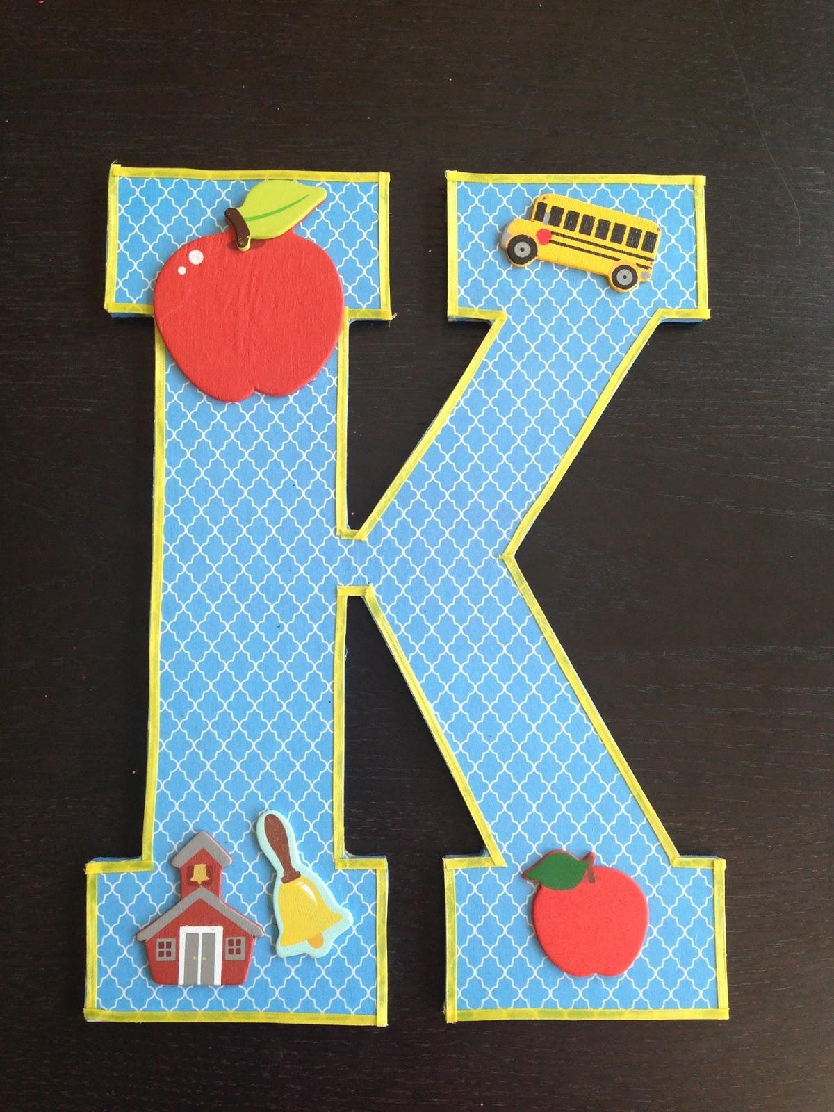 My Kinder Antics K Is For Kindergarten Photo Prop