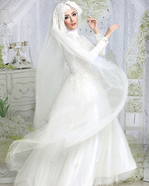 model baju akad nikah muslim