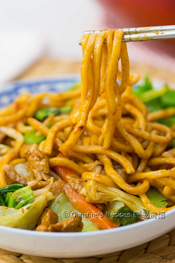 Spicy Pork Ramen Noodles Stir-Fry01