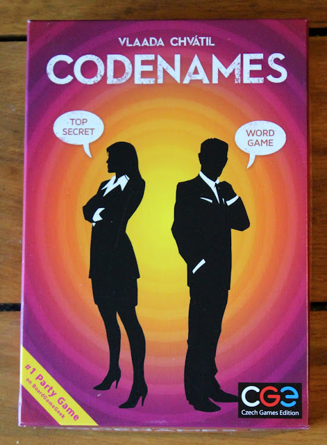 Codenames card game review - box art