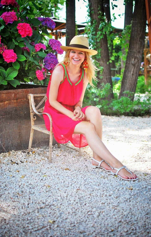 летний лук, лук в шляпе, модные шляпы, соломенная шляпа, модный лук, летний стиль