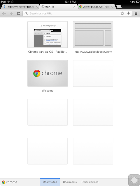 Google Chrome Tabs for iOS Devices iPad and iPhone