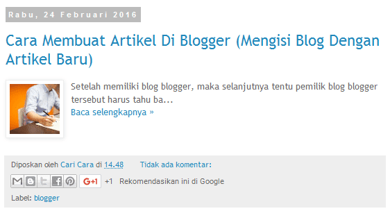 Tutorial Cara Membuat Read More Di Blogger Tanpa Script