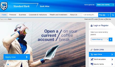 Accueil Standard Bank