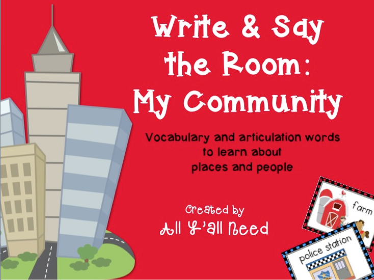 Write & Say the Room: My Community by All Y'all Need
