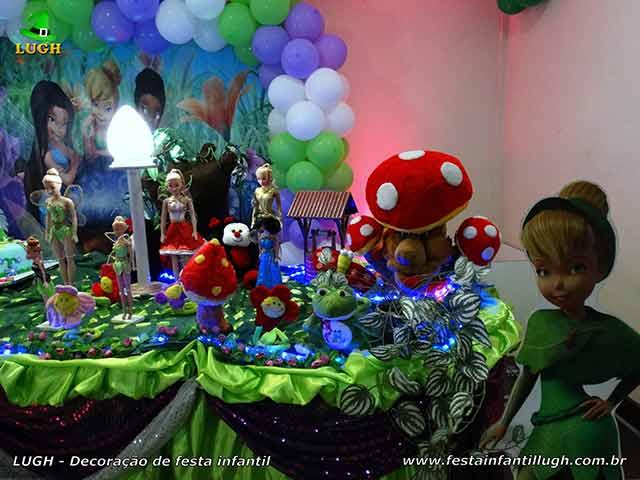Tema Tinker Bell (Sininho), ornamentação de festa infantil