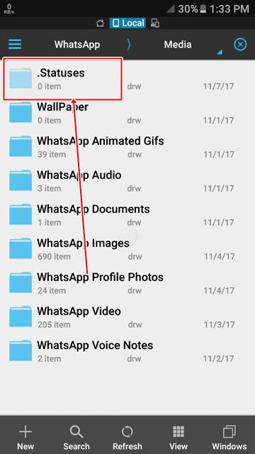 how find whatsapp status hidden folder full guide in hindi