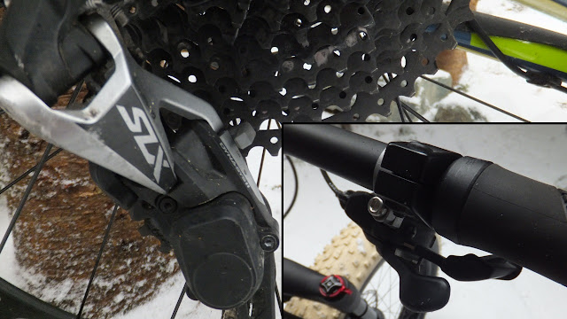 Shimano SLX shifter and derailleur