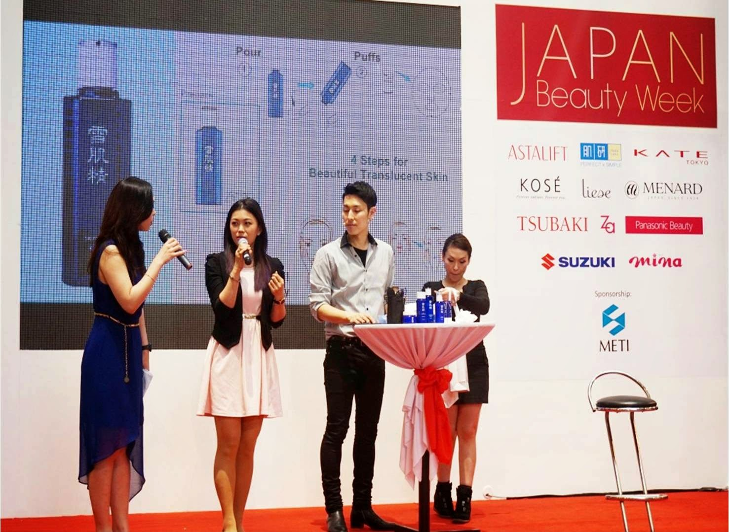 Japan Beauty Week, on stage sharing, presentation, demo, sunshine kelly, beauty tips, beauty blogger, kose, sekkisei lotion mask, dobashi, kose sekkisei