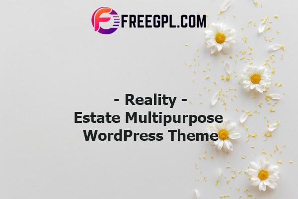 Reality | Estate Multipurpose WordPress Theme Nulled Download Free