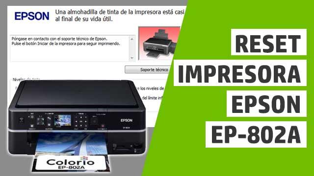 resetear almohadillas impresora Epson EP802A