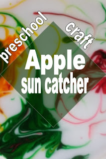 Apple sun catcher : preschool craft