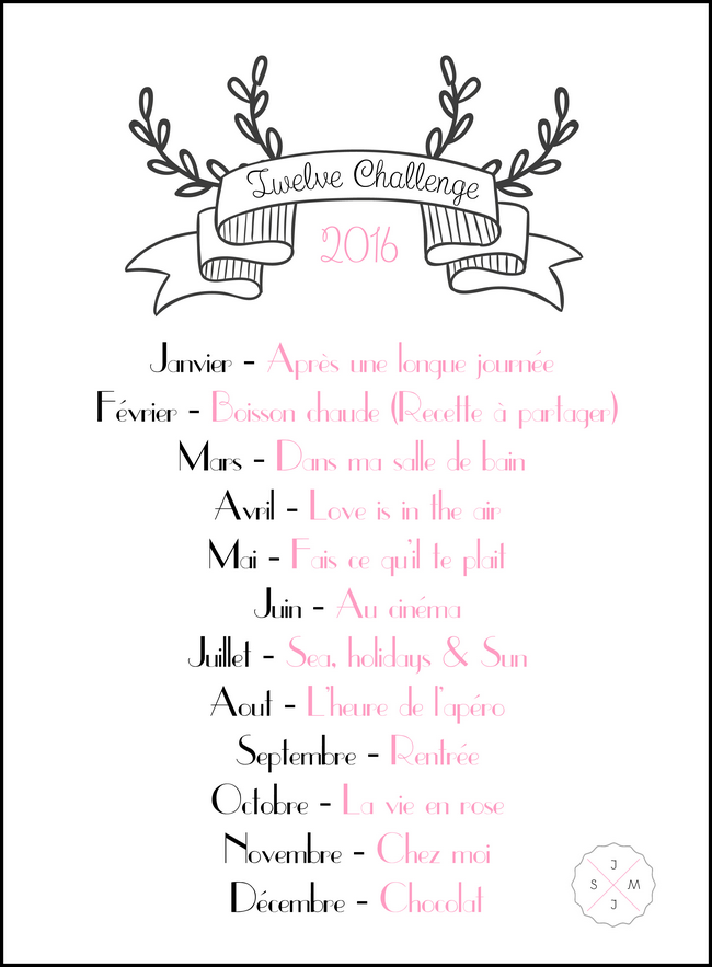 Twelve challenge 2016