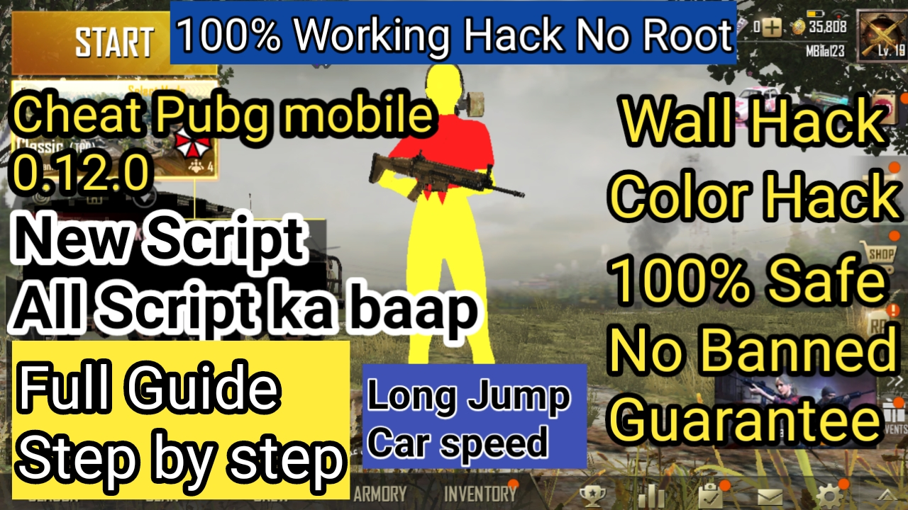 How to hack Pubg Mobile - New script Anti ban wallhack