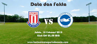 Data dan Fakta Fantasy Premier League GW 27 Stoke City vs Brighton Fantasi Manager Indonesia