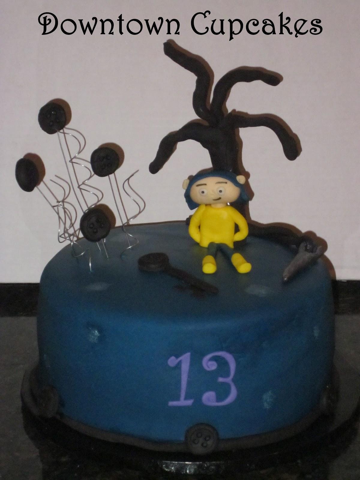 Downtown Cupcakes Coraline Cake