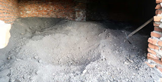The coal shed as of Tuesday morning before I dug any