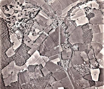 Image 12:  Photograph taken June 15, 1962 Aerial photograph of North Mymms from the Peter Miller Collection