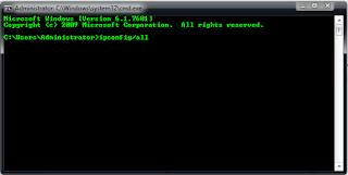 Cara mengetahui mac address dan IP address melalui CMD