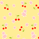 cherry pattern papers