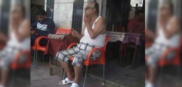 """أحمد راتب : لهذه الأسباب جلست على المقهى بـ""""الفانلة"""" و""""الشبشب"""".. هو أنا مجنون!"""