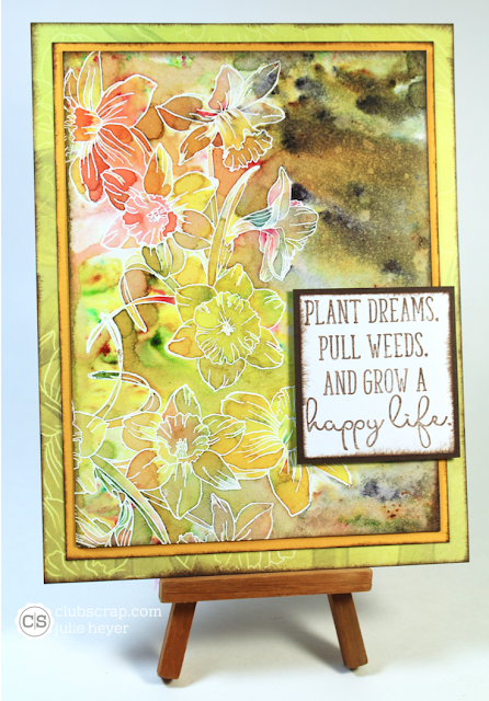 #clubscrap #daffodils #colorbursts #mixedmedia