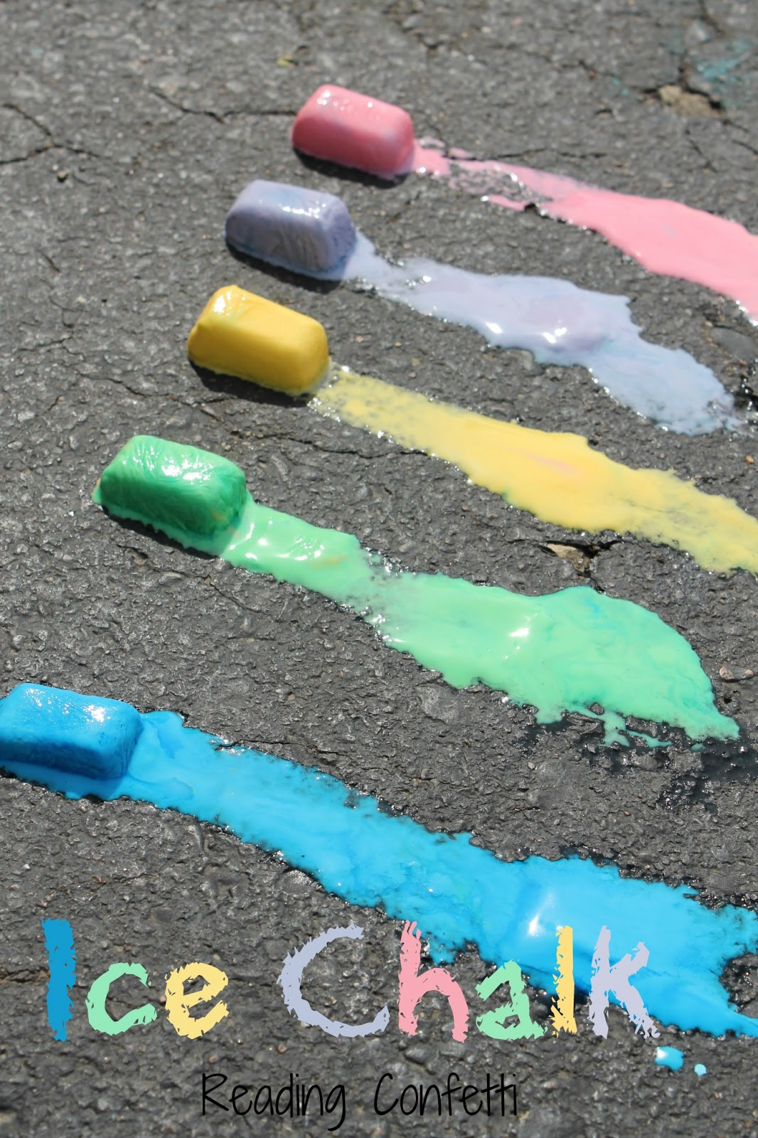 homemade ice chalk is the perfect art sensory and science activity